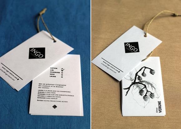 Etiquette de vetement pour la marque Ingo-nature Emma Lidbury  graphisme