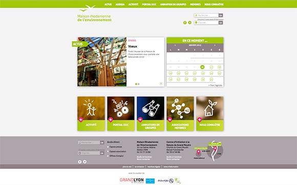 Identité visuelle et habillage graphique web du site de la maison rhodanienne de l'environement