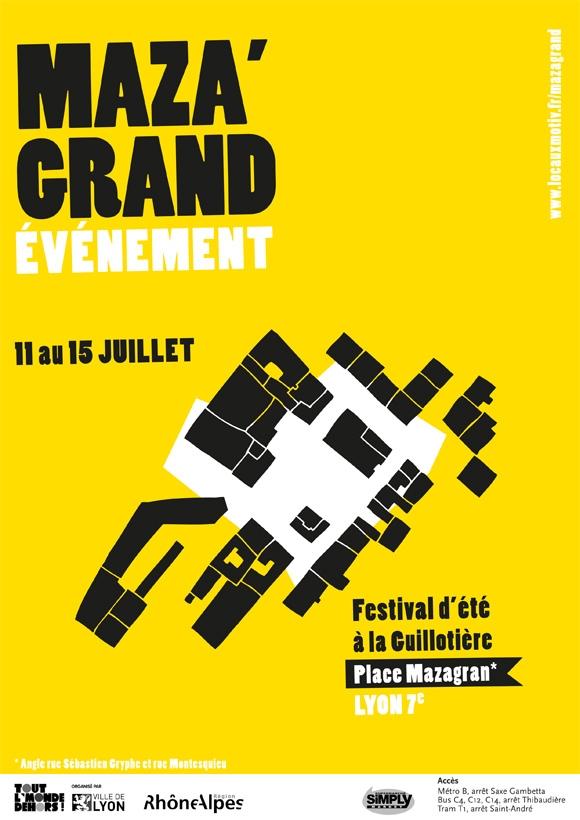 Affiche du festival Mazagrand'évenement Lyon graphisme