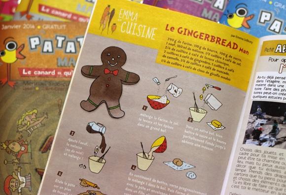 Patatras ! magazine gratuit pour enfant, rubrique Emma au jardin illustration